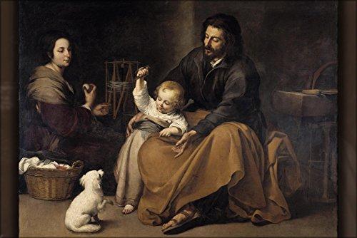 History Galore 24'x36' Gallery Poster, La Sagrada Familia del pajarito, Bartolome Estaban Murillo 1645-1650