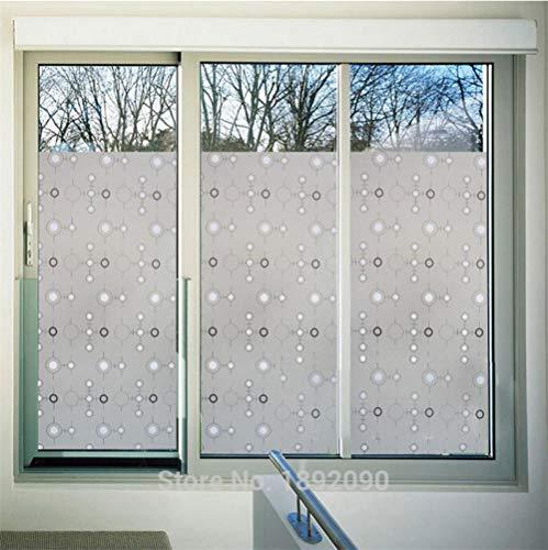 KUNHAN Vinilo para Ventana Gebeizt Opaque Kreisförmigen Muster Geprägt Matt Fenster Filme Wärme Transfer Vinyl Selbst klebend Privatsphäre Glas Aufkleber-60x200