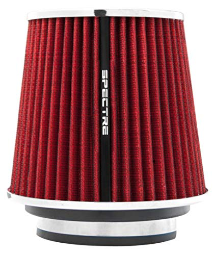 Spectre Universal Clamp-On Air Filter: High Performance, Washable Filter: Round Tapered; 3 in/3.5 in/4 in Flange ID; 6.719 in (171 mm) Height; 6 in (152 mm) Base; 4.75 in (121 mm) Top, SPE-8132