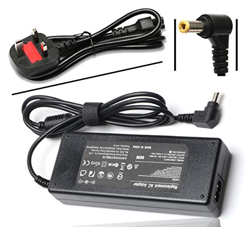19V Ac Adapter Laptop Charger for Toshiba Satellite C655 C655D C675 C850 C855 C855D C875 C50 C55 C55D P50 L50 L55 L55D L75 L305 PA3917U-1ACA PA3714U-1ACA PA5035U-1ACA Power Supply Cord UK