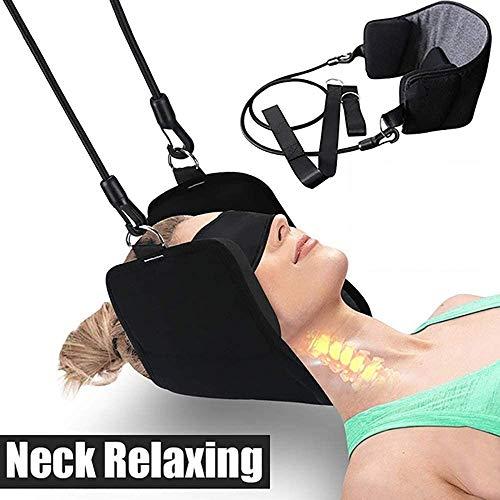 SHINETRACK - Amaca da collo, testa e collo, supporto portatile allevia il dolore alla schiena e alla spalla