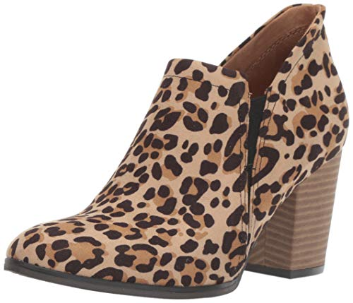 Dr. Scholl's Shoes Women's All My Life Ankle Boot, Tan/Black Leopard Microfiber, 8 M US