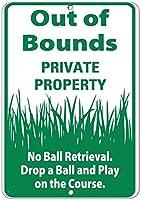 境界外の金属製駐車標識私有財産ボール回収標識なし、公園標識公園ガイド警告標識私有財産用金属屋外危険標識
