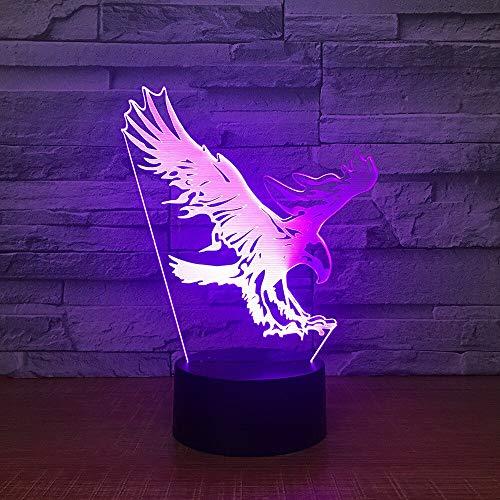 Acrylic Creative Color Changing Night Light Remote Control New Special 3d Lamp New Children's Night Light