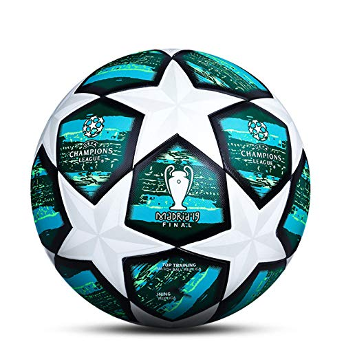 LDLXDR Balones de fútbol de competición- Pelota de Entrenamiento de tamaño Completo 5 4 Adultos, niños de Secundaria, Club Profesional, Juegos de Interior y Exterior
