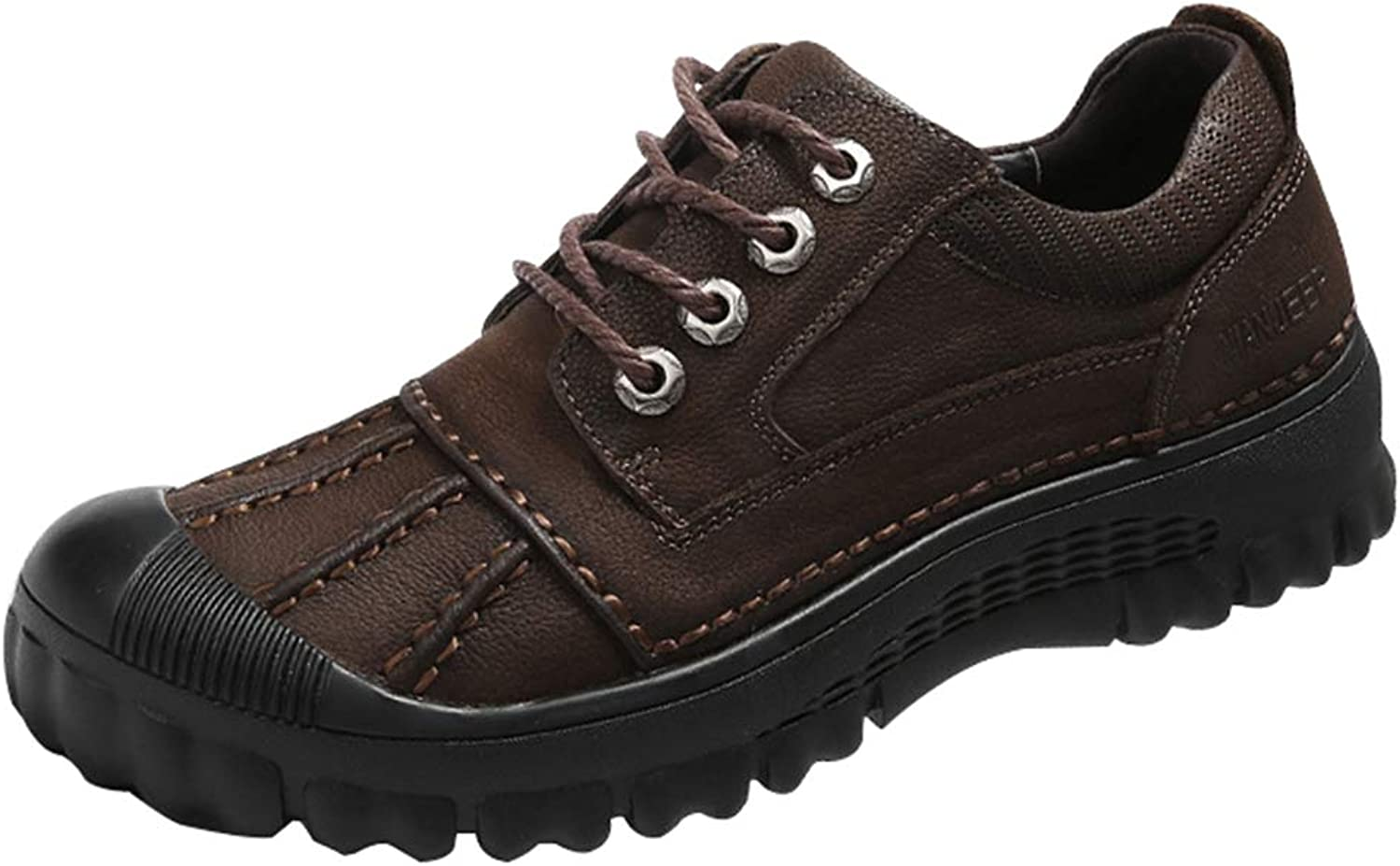 Men's outdoor hiking shoes casual leather trekking shoes