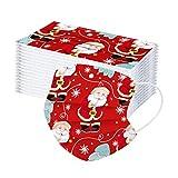 50pcs Adultos Desechables Unisex Impreso Navidad Protección Suave 3 Capas a Prueba de Viento protección