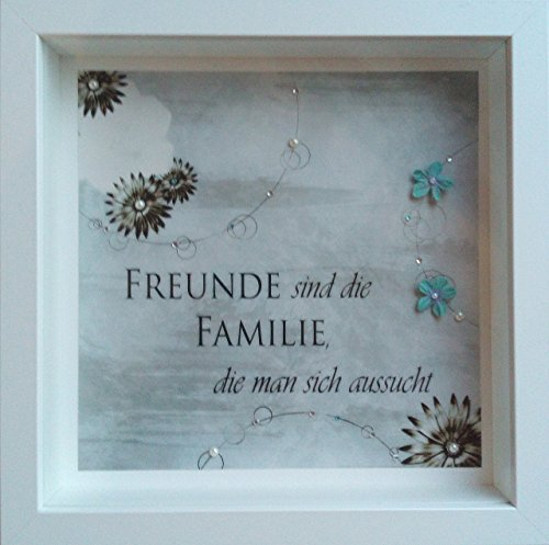 """Bild\""""Freunde\"""" Besonderes Weihnachtsgeschenk Freunde personalisierbar handmade"""