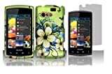 Hawaiian Flower Protector Hard Shell Faceplate Cover Phone Case + Screen Protector for Kyocera Rise C5155