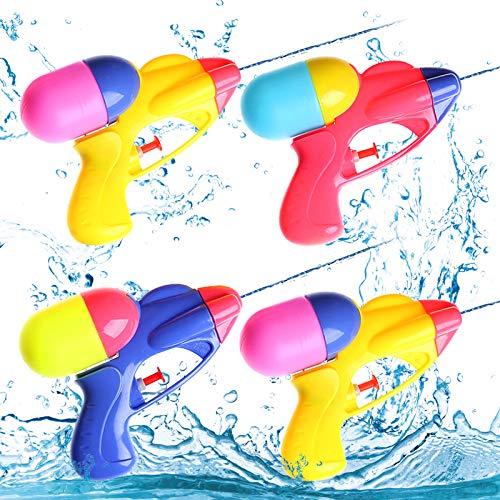 4 pezzi pistola ad acqua piccola,pistole ad acqua giocattolo,pistola ad acqua per bambini adulti,pistola ad acqua all'aperto,pistola ad acqua estivo (4 Stück)