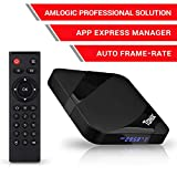 Android 9.0 TV Box 2GB RAM 16GB ROM, Amlogic Quad-Core S905W 64 Bits CPU Smart TV Box,Tanix Android Box 4K 3D H.265 TV Box BT 4.0 100Mbps LAN