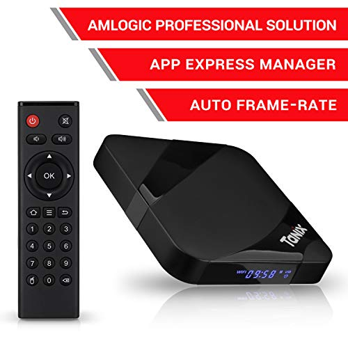 Android TV Box, 2020 TX3 MAX 2 GB RAM 16 GB ROM, Amlogic Quad-Core S905W 64 bits CPU, Tanix Android 9.0 4K 3D H.265 TV Box con BT 4.0