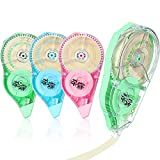 4 Pieces of Daisy Large Capacity Correction Tape 30M Beige Correction Tape Creative Student Correction Tape