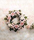 LinTimes Türkranz Wandkranz, handgefertigte Kunstblumendeko für Zuhause, Parties, Türen, Hochzeiten - 7