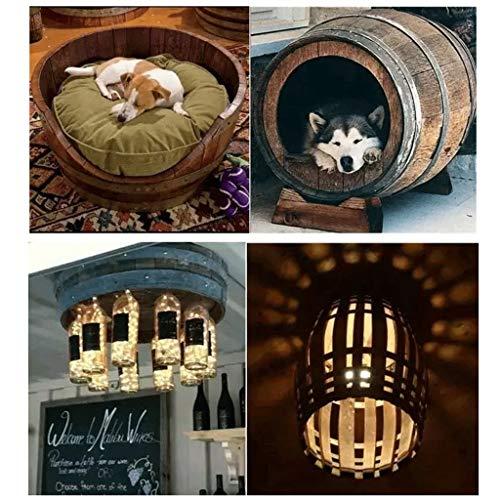 Barricas de roble decorativas, corte de la pared de medio cañón, colgando de barriles de vino, barriles de cerveza, vino de la bodega del hotel, bodega apoyos fotografía de bodas, roble barril de whis