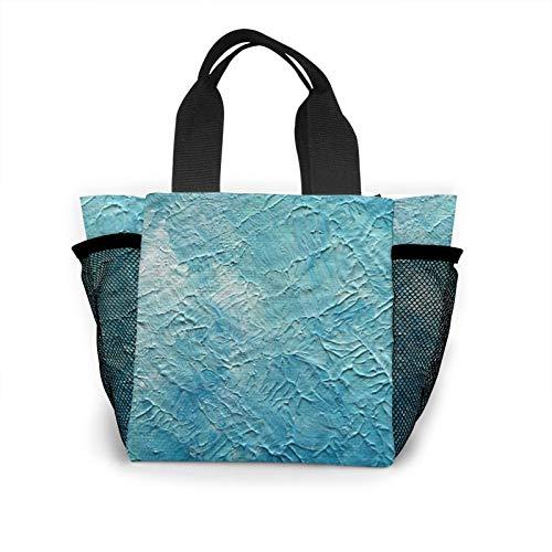 Painting Handbag Women's Fashion Shopping Bag Reusable Carry Small Handbag