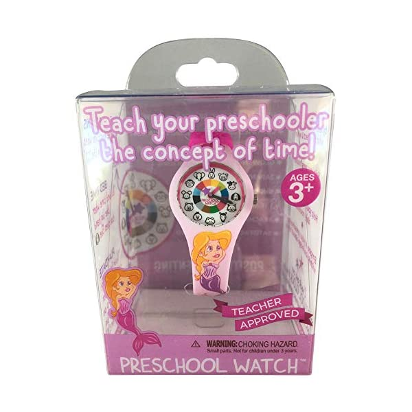 Preschool Watch – The Only Analog Kids Watch Preschoolers Understand! Quality Teaching/Learning Time Silicone Watch with Glow-in-The-Dark Dial & Japan Movement