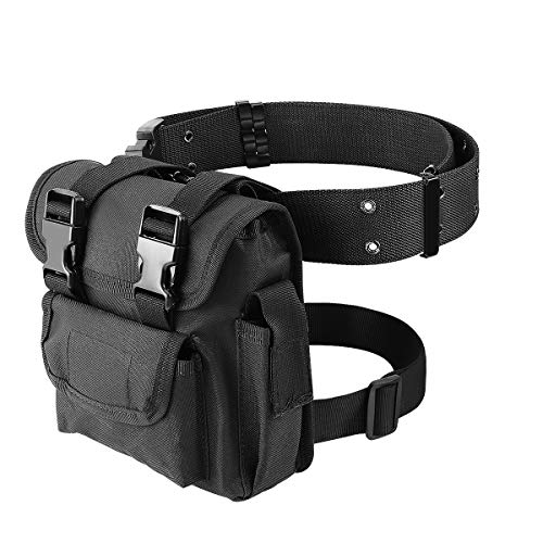 YHD Drop Leg Bag for Men Tactical Military Water-Resistant, Fanny Waist Packs for Motorcycle Steampunk Outdoor Airsoft
