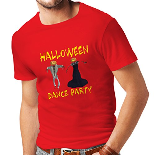lepni.me Camisetas Hombre Disfraces Fiesta de Danza de Halloween Eventos Traje Ideas (X-Large Rojo Multicolor)