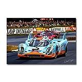 Yxjj1 Steve Mcqueen voiture de course 24 heures du Mans sur toile impression nordique affiche murale Art photo pour salon décoration de la maison-50x75 cm sans cadre