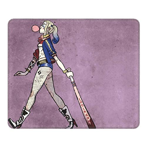 JorgAkem Harley-Quinn-Stand Game Mousepad Gaming Mouse Pads Keyboard Ergonomic Mat Non-Slip Gamepad with Stitched Edge Wrist Support Rests Big Office Desk for Pc Computer Laptop 7 X 8.6 in