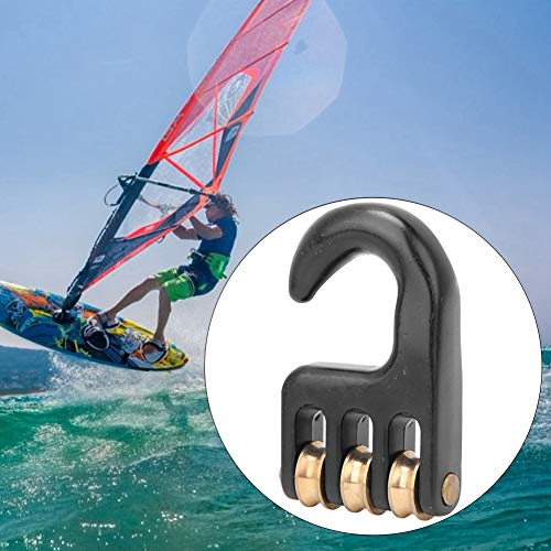 3 Wheel Rigging Pulley Hook, Aluminium Alloy Windsurf Pulley Hook, Windsurfing Accessories Surfing for Sail Outdoor Use Windsurfing