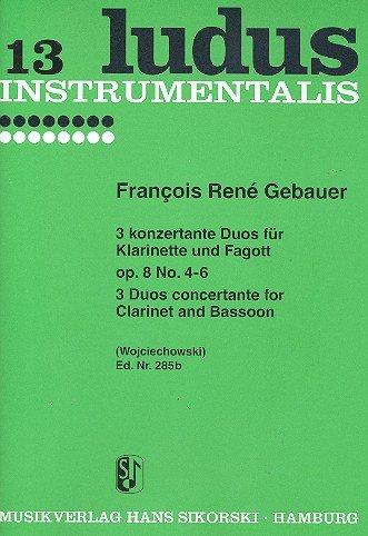 6 concertante Duos opus.8 Band 2 (nr. 4-6): voor Klarinette en Fagott