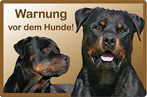 +++ ROTTWEILER - Metall WARNSCHILD Schild Hundeschild Sign - RTW 18 T57D