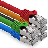 Bild des Produktes '0,25m - 5 Farben 02 CAT.7 Computer Ethernet Kabel Netzwerkkabel (Rohkabel) Patchkabel S-FTP LSZH PIMF 10GB s RJ45 Stecke'