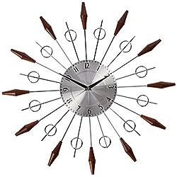 Telechron The Noyes Mid-Century Clock, Walnut/Silver