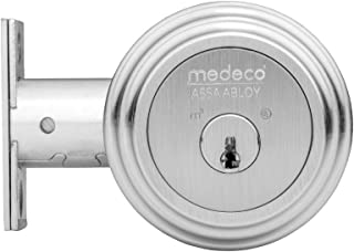Medeco 11R523-19-1 Maxum Deadbolt, Double Cylinder, Satin Nickel Finish, 2-3/8