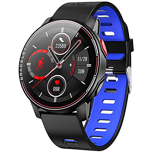 KMF L6 Smart Watch IP68 Impermeable Deportes SmartWatch Fitness Heart Rate Tracker Women Men's Smart Watch Function para iOS Android,C