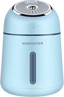 TangFeii Humidifiers Cool Mist Humidifier 330ml Air Humidifiers USB Humidifier for Home Bedroom Office Travel Yoga Baby Room (Color : Blue, Size : 9.613.9)