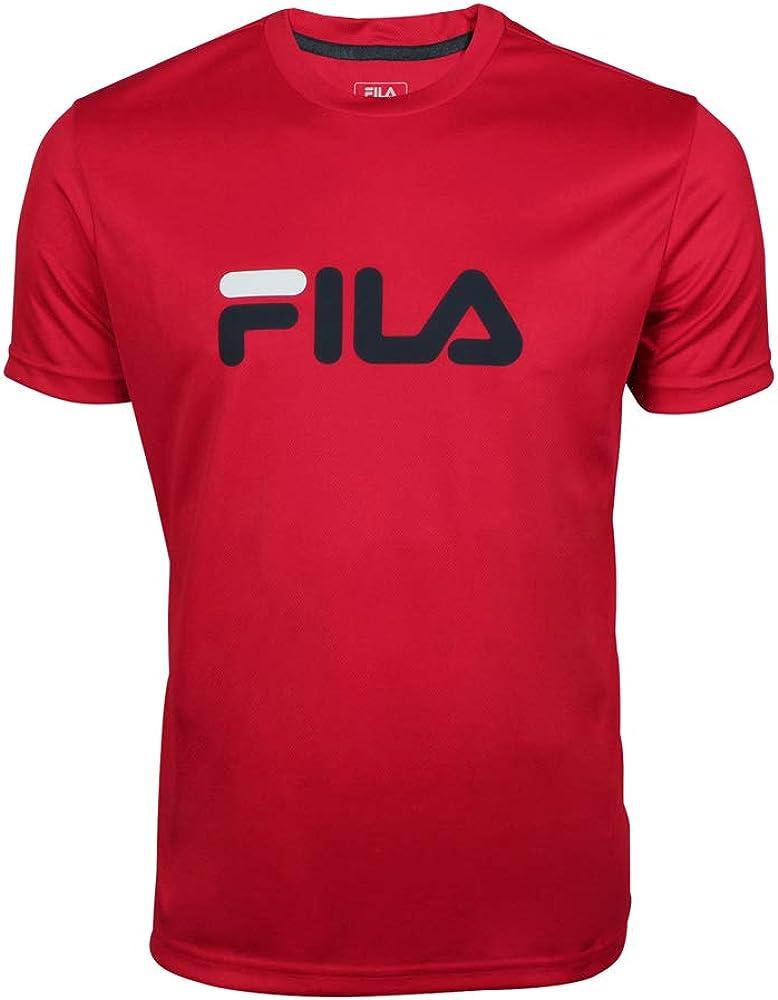 Fila oberbekleidung t-shirt logo,maglietta per  uomo,100% poliestere FLM131020