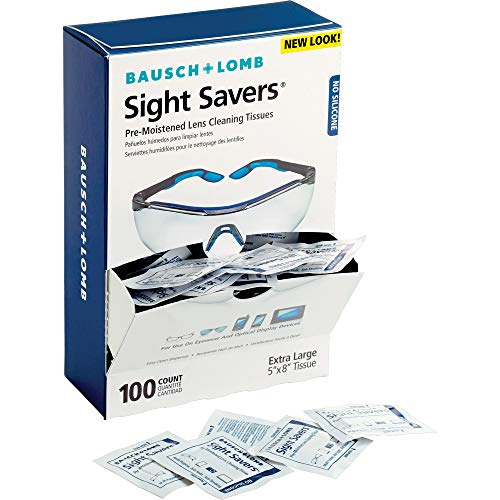 Lens Cleaning Wipes by Bausch amp Lomb PreMoistened Tissues AntiFog AntiStatic AntiStreaking Cleans Glass and Plastic 100 Count