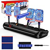 Upgraded Electric Scoring Auto Reset Shooting Digital 4 Target for Nerf Guns Blaster