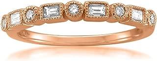 Best baguette diamond ring rose gold Reviews