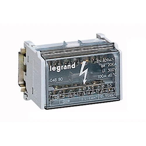 Legrand 004880 Morsettiera, 2 x 14-pin