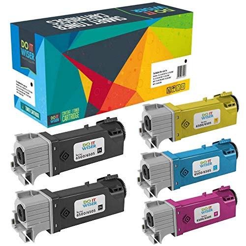 Do it Wiser Kompatible Toner als Ersatz für Xerox Phaser 6500 6500N 6500DN WorkCentre 6505 6505N 6505DN (5er-Pack)