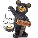 VP Home Welcome Bear Solar Powered LED Outdoor Decor Garden Light