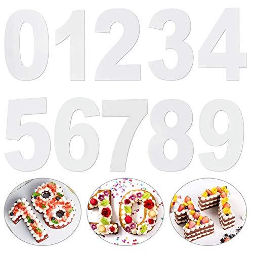 REYOK Stampo per Torta Grande,Taglio della Torta Stampo per Glassa con Numeri da 0 a 9,Crema,Torta alla Frutta,Torta Nuziale,Stampini per Dolci,Cake Mold 6 inch