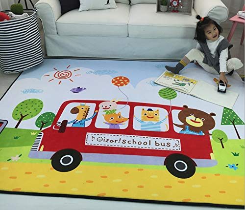 Vloerbedekking Binnen Nachtkastje Anti-slip Slaapkamer Woonkamer Deur Mode Cartoon Dieren Baby's Kruipende kinderen Persoonlijkheid Kinderkamer 140 * 200cm