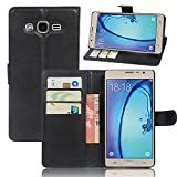 Manyip Samsung Galaxy ON7 Case PU Leather Stand Wallet Flip