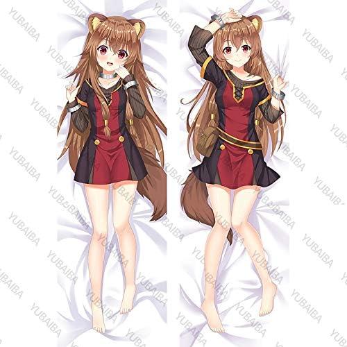 YUBAIBA Raphtalia, Anime Taie, Taie Peach Peau 2WAY Matériel, Hug The Body Taie, Hug favori Anime ou Jeu Personnages, Cadeaux Fan Anime Peach Skin