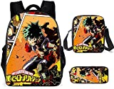 My Hero Academia Mochila escolar 3D Anime Impresión Mochila Infantil Mochila Infantil + Bolsa + Bolsa + Bolsa + Bolsa para el Escolar de tu Niño, My Hero Academia 15.,