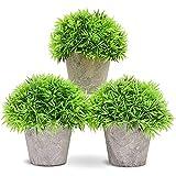 Juvale las Plantas en Maceta pequeña Artificial Temporal (3 Piezas) - diseño de Interiores, 5 x 4 Pulgadas