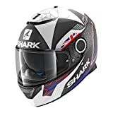 Shark. Casco de moto Spartan Redding mate KBW, color negro y azul, talla S