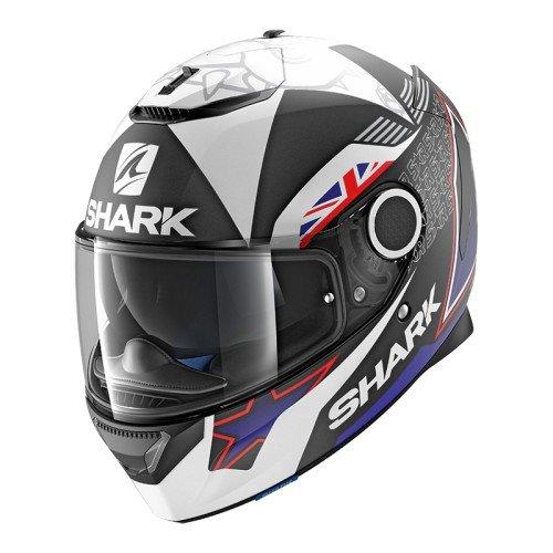 Shark. Casco de moto Spartan Redding mate KBW, color negro y azul, talla S