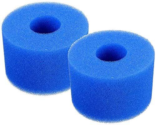 YAOL Schwimmbad-Filterschaumpatronen, für Intex Typ S1 Filter, Whirlpool Filter wiederverwendbar und waschbar Filterschwamm (2PCS)