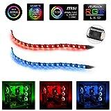 Bande lumineuse à LED RVB - Bande Speclux Led pour boîtier PC Modding, contrôle de carte mère, RGB 12V 4 broches, compatible...